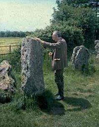"Bill Lewis also ""vibing"" a stone in the King's Men circle"